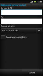 Sony MT27i Xperia Sola - E-mail - Configuration manuelle - Étape 13