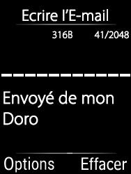 Doro 6620 - E-mails - Envoyer un e-mail - Étape 6