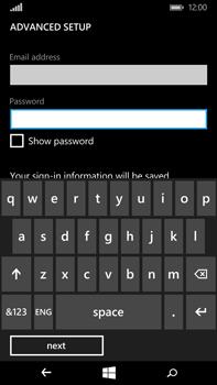 Microsoft Lumia 640 XL - E-mail - Manual configuration - Step 9