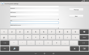 Sony Xperia Tablet Z2 LTE - E-mail - manual configuration - Step 10