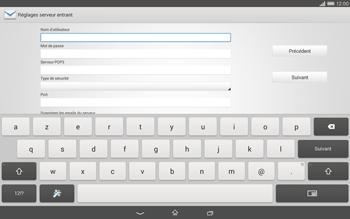 Sony Xperia Tablet Z2 LTE - E-mail - configuration manuelle - Étape 8