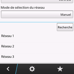 BlackBerry Q10 - Réseau - Sélection manuelle du réseau - Étape 9