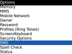 BlackBerry 8520 Curve - SMS - Manual configuration - Step 4
