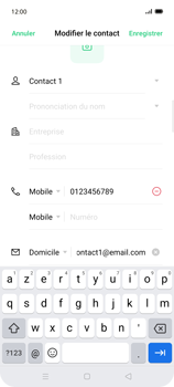 Oppo Find X2 Lite - Contact, Appels, SMS/MMS - Ajouter un contact - Étape 11