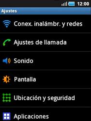 Samsung S5570 Galaxy Mini - WiFi - Conectarse a una red WiFi - Paso 4