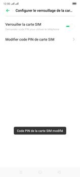 Oppo Reno 2 - Sécuriser votre mobile - Personnaliser le code PIN de votre carte SIM - Étape 14