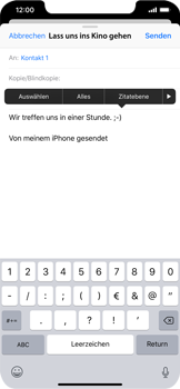 Apple iPhone XS Max - E-Mail - E-Mail versenden - 9 / 16