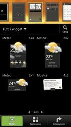 HTC One S - Operazioni iniziali - Installazione di widget e applicazioni nella schermata iniziale - Fase 4
