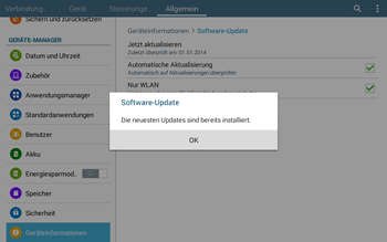 Samsung T535 Galaxy Tab 4 10.1 - Software - Installieren von Software-Updates - Schritt 11