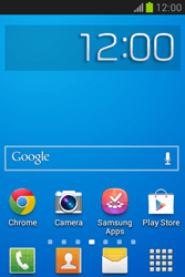 Samsung Galaxy Fame Lite - Getting started - Installing widgets and applications on your start screen - Step 1