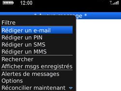 BlackBerry 9700 Bold - E-mail - Envoi d