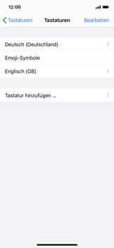 Apple iPhone 11 Pro - iOS 14 - Startanleitung - So fügen Sie eine Tastatursprache hinzu - Schritt 8