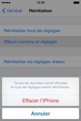 Apple iPhone 4S (iOS 8) - Aller plus loin - Restaurer les paramètres d'usines - Étape 6