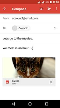 Acer Liquid Zest 4G Plus DualSim - E-mail - Sending emails - Step 14