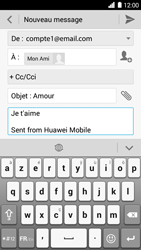 Huawei Ascend G6 - E-mail - Envoi d