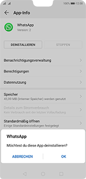 Huawei P20 - Android Pie - Apps - Eine App deinstallieren - Schritt 7