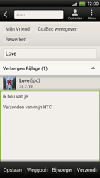 HTC S720e One X - e-mail - hoe te versturen - stap 14