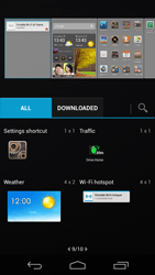 Huawei Ascend P6 - Getting started - Installing widgets and applications on your start screen - Step 5