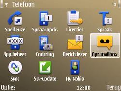 Nokia E72 - Voicemail - handmatig instellen - Stap 6