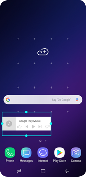 Samsung Galaxy S9 - Getting started - Installing widgets and applications on your start screen - Step 7