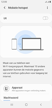 Samsung galaxy-a6-sm-a600fn-ds-android-pie - WiFi - Mobiele hotspot instellen - Stap 11