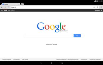 Sony Xperia Tablet Z2 LTE - Internet und Datenroaming - Verwenden des Internets - Schritt 7