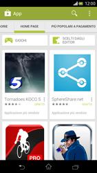 Sony Xperia V - Applicazioni - Configurazione del negozio applicazioni - Fase 23