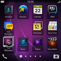 BlackBerry Q10 - Getting started - Personalising your Start screen - Step 5