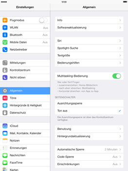 Apple iPad mini iOS 7 - WiFi - WiFi-Konfiguration - Schritt 3
