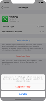 Apple iPhone XS Max - Applications - Supprimer une application - Étape 7