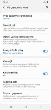 Samsung Galaxy A50 - Beveiliging en privacy - automatische schermblokkering instellen - Stap 13