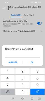 Huawei P Smart 2021 - Sécuriser votre mobile - Personnaliser le code PIN de votre carte SIM - Étape 10