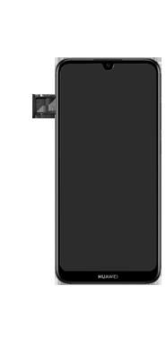 Huawei Y6 (2019) - Premiers pas - Insérer la carte SIM - Étape 6