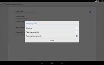 Sony Xperia Tablet Z2 LTE - Internet e roaming dati - Disattivazione del roaming dati - Fase 7