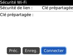 BlackBerry 8520 - Internet et connexion - Accéder au réseau Wi-Fi - Étape 9