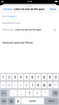Apple iPhone 6s Plus (iOS 11) - e-mail - hoe te versturen - stap 7