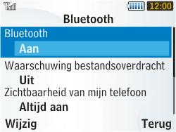 Samsung S3350 Chat 335 - bluetooth - aanzetten - stap 6