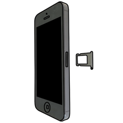 Apple iPhone 5 mit iOS 7 - SIM-Karte - Einlegen - Schritt 4