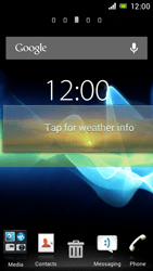 Sony Xperia J - Getting started - Installing widgets and applications on your start screen - Step 5