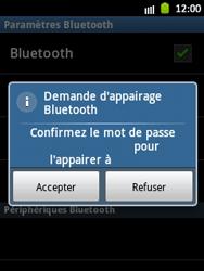 Samsung S5300 Galaxy Pocket - Bluetooth - connexion Bluetooth - Étape 11