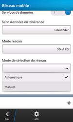BlackBerry Z10 - Réseau - Sélection manuelle du réseau - Étape 7