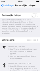 Apple iPhone 5 met iOS 10 (Model A1429) - WiFi - Mobiele hotspot instellen - Stap 6