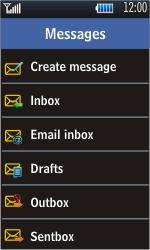 Samsung S5620 Monte - E-mail - Sending emails - Step 4