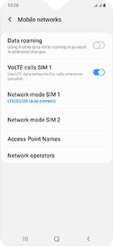 Samsung Galaxy A20e - Network - Enable 4G/LTE - Step 8