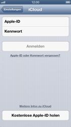 Apple iPhone 5 - Apps - Konfigurieren des Apple iCloud-Dienstes - Schritt 4