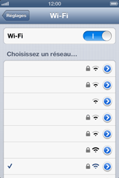 Apple iPhone 4 - WiFi - Configuration du WiFi - Étape 7