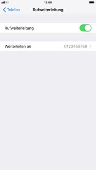 Apple iPhone 7 Plus - iOS 12 - Anrufe - Rufumleitungen setzen und löschen - Schritt 8
