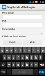 Alcatel Pop C3 - E-Mail - Konto einrichten - 0 / 0