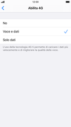 Apple iPhone 8 - iOS 13 - Rete - Come attivare la connessione di rete 4G - Fase 7