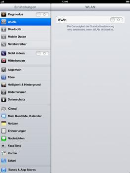 Apple iPad 4 - WLAN - Manuelle Konfiguration - 4 / 8